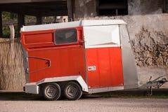 Trailer for horses transport Stock Images