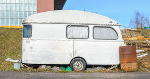 Trailer House Camper. Old Vintage Abandoned Mobile Home Trailer House Camper royalty free stock image