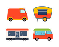 Trailer house vector illustration. Royalty Free Stock Images
