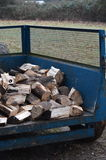 Trailer load of chopped logs. Royalty Free Stock Photo