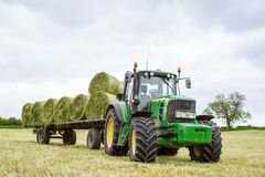 Trailer Loaded With Hay Bales Royalty Free Stock Photography
