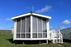 Trailer on modern caravan park Royalty Free Stock Images