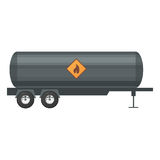 Trailer oil.  illustration in flat style on white background Royalty Free Stock Photos