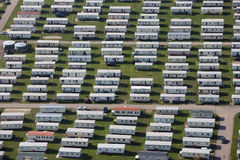 Trailer park aerial Stock Photos