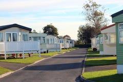 Trailer park or Caravan site. Royalty Free Stock Images