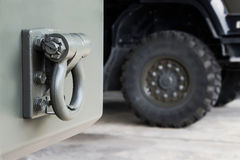 Trailer Rear tow hook for transportation. Royalty Free Stock Photos