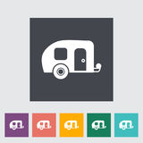 Trailer. Single flat icon on the button. Vector illustration vector illustration
