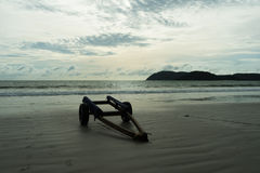 A trailer standing on the beach Royalty Free Stock Photography