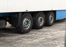 Trailer tires Stock Photography