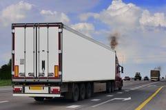 The trailer transpor Stock Image