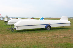 Trailer for transportation glider. Stock Photography