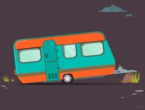 Trailer. Transportation and traveling on the best trailer Royalty Free Stock Photo