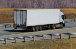Trailer transporting cargo Royalty Free Stock Image