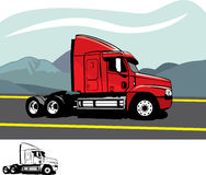 Trailer truck Royalty Free Stock Photography