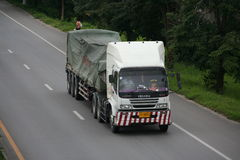 Trailer truck. To chiangmai province Stock Images