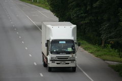 Trailer truck, cold container. Trailer truck, cold container to chiangmai province Stock Photos