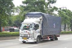 Trailer truck, container. Stock Photos