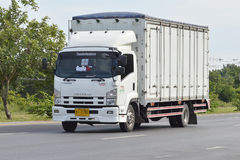 Trailer truck, container. Royalty Free Stock Image