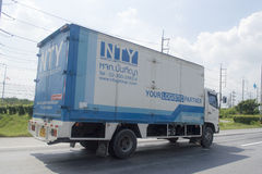 Trailer truck, container of NTY GROUP Logistics company Royalty Free Stock Photos