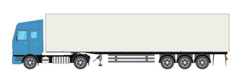 Trailer truck long vehicle. Isolated on white background. Vector flat trendy illustration stock illustration