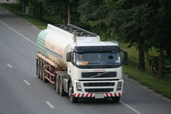 Trailer truck, oil container. Trailer truck, oil  container to chiangmai province Stock Images