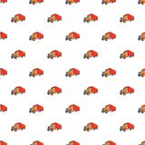 Trailer truck pattern, cartoon style Royalty Free Stock Photography