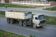 Trailer truck, rock container. Trailer truck, rock container to chiangmai province Stock Images