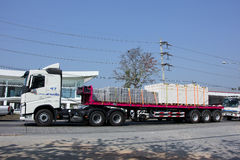 Trailer Truck of SCG logistics. Royalty Free Stock Image