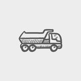 Trailer truck sketch icon Stock Photo