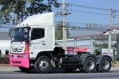Trailer truck  of Thanachai Company. Royalty Free Stock Image
