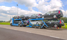 Trailer truck Stock Image
