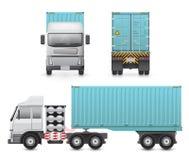 Trailer truck vector Stock Photos
