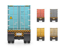 Trailer truck vector Royalty Free Stock Photo