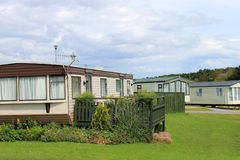 Trailers in caravan park Stock Image