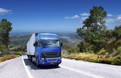 Trailers carrying containers Stock Photos