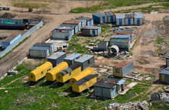 Trailers at the construction site.  Stock Image