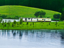 Trailers at landscapes Stock Image