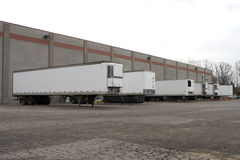 Trailers at Loading Docks Royalty Free Stock Image