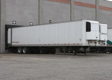 Trailers at Loading Docks royalty free stock photo