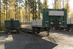 Trailers on a parking Royalty Free Stock Photography