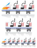 Trailers for roller coasters vector illustration Stock Photography