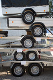 Trailers on top of each other Royalty Free Stock Photo