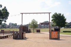 Trailhead-Park und radfahrende Anlage, Fort Worth Texas Lizenzfreie Stockfotografie