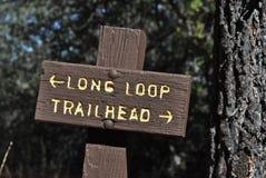 Trailhead Regelkreis lizenzfreie stockbilder