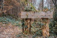 Trailhead w Clemson Eksperymentalny Forrest zdjęcie royalty free