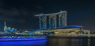 Trailing Light/ Marina Bay /Lunar New Year/New Year Stock Photos