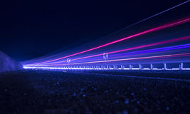 Trailing lights of the highway Stock Photo