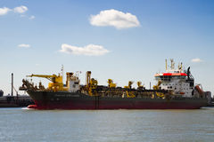 Trailing suction hopper dredger Royalty Free Stock Images