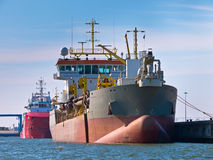 Trailing suction hopper dredger Stock Images