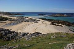 Trailleach plaża, wyspa Coll Obrazy Royalty Free